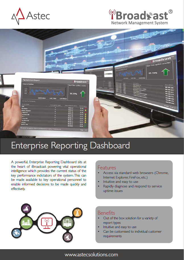 Enterprise Reporting Dashboard Data Sheet