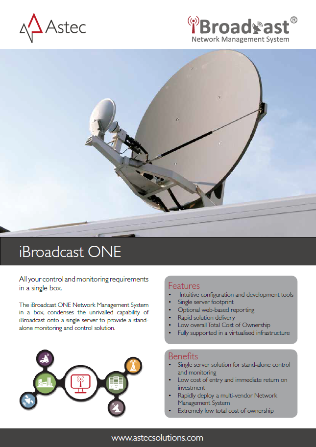 iBroadcast ONE Data Sheet