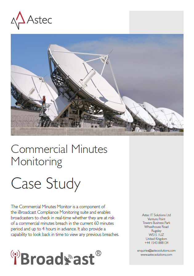 Commercial Minutes Monitoring