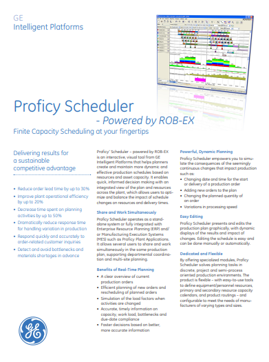 Proficy_Scheduler